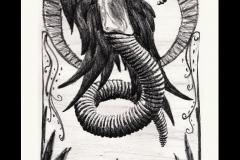litho angel worm print